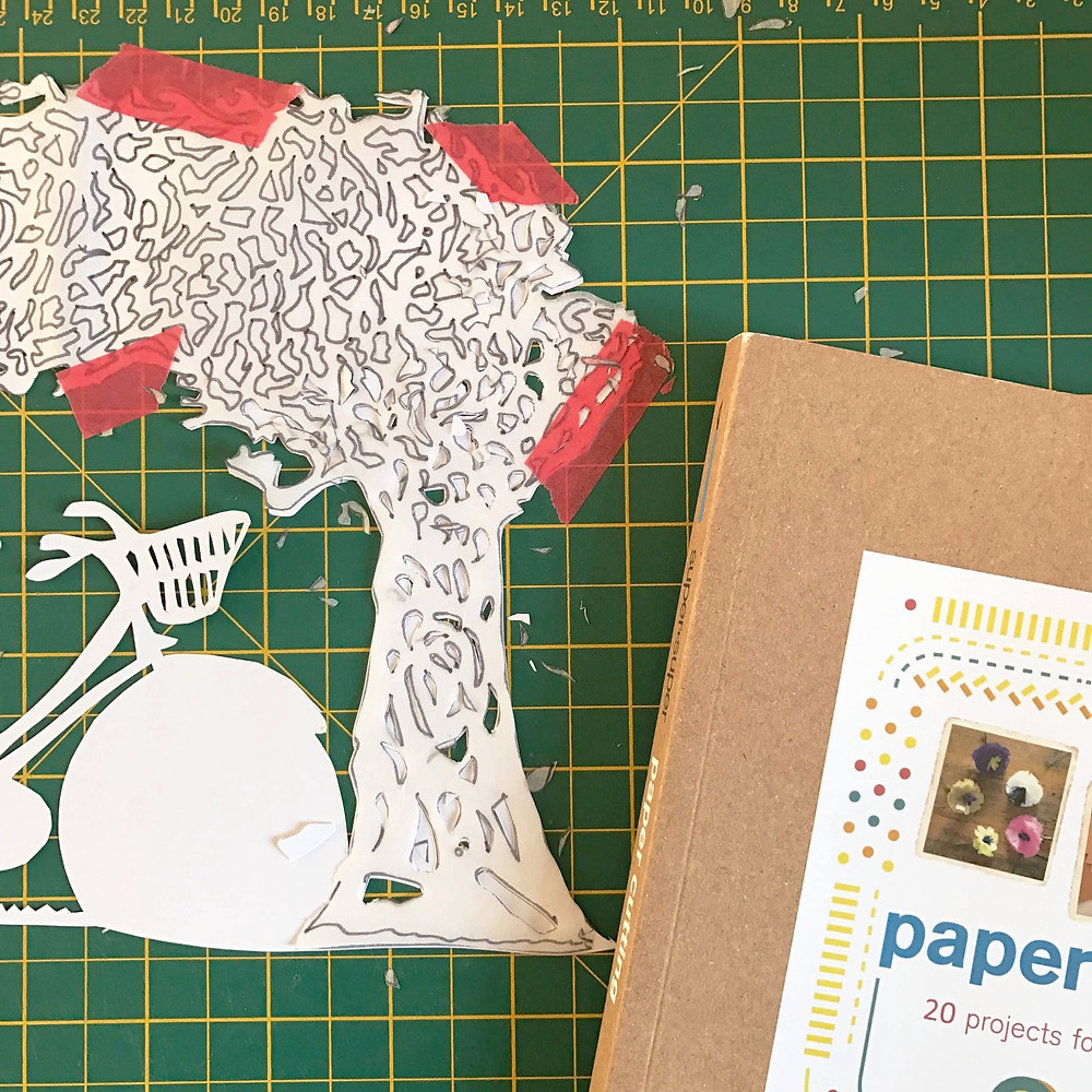 paper cutting work in progress and book inspiration