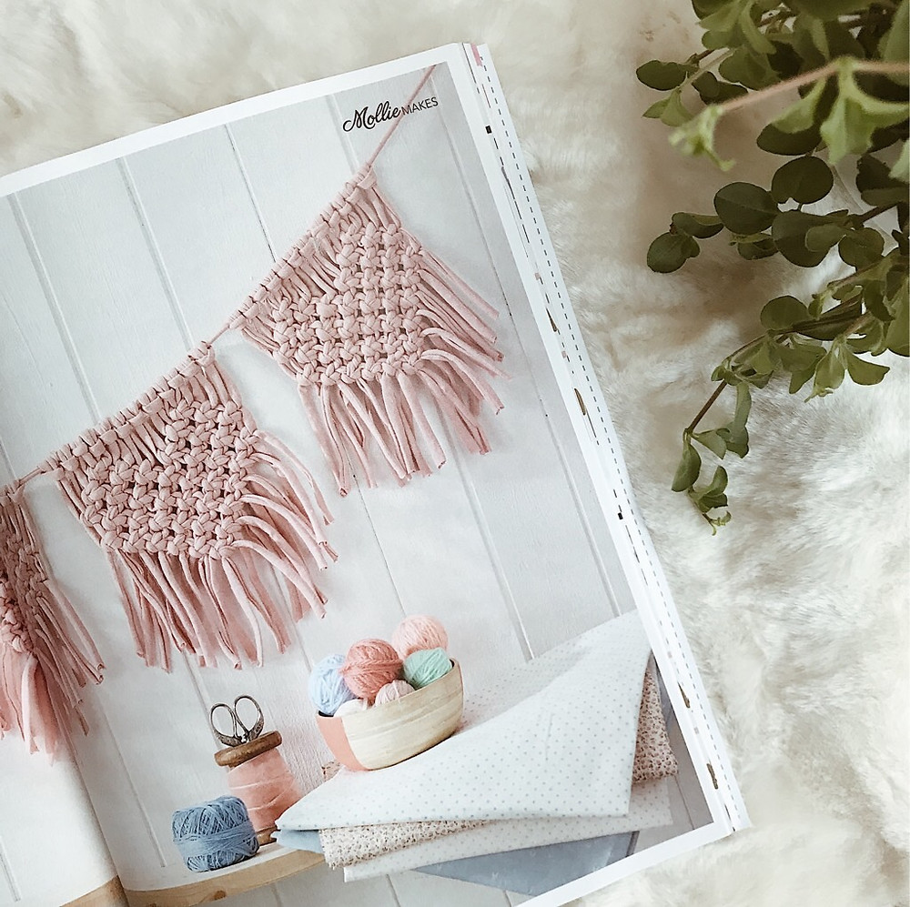 heart macrame bunting by Twome on Mollie Makes magazine