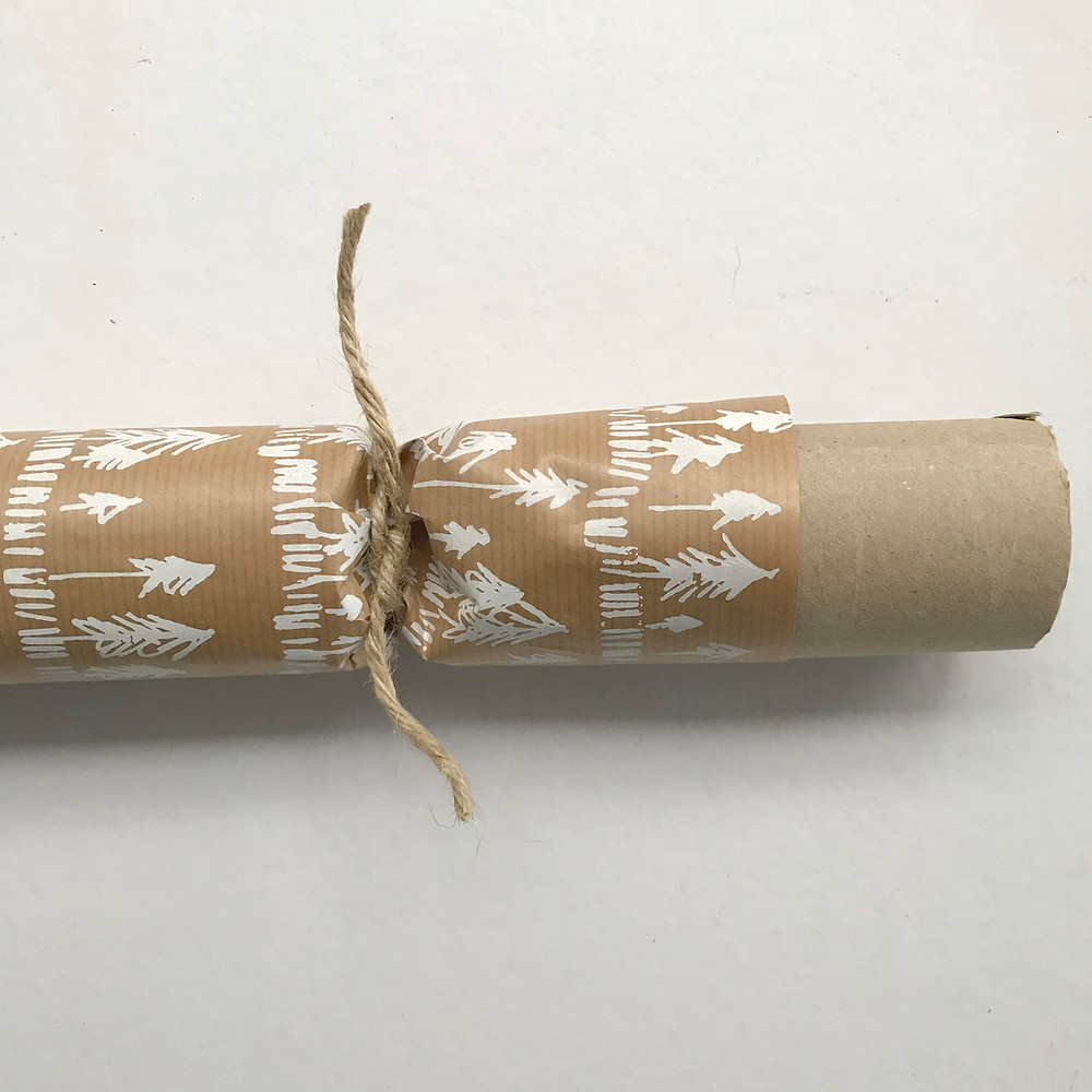 tie a knot with a piece of twine or ribbon
