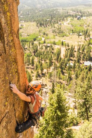 Climbing in Turkey Rocks, Colorado