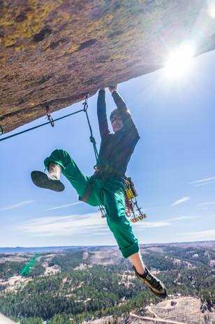 Roof Crack Climbing in Colorado