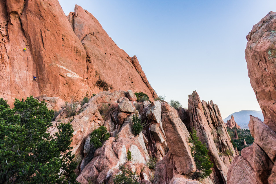 Climbing in Garden of the Gods, Colorado
