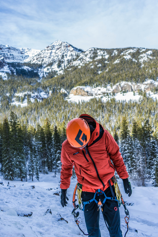 Gearing Up in Hyalite Canyon, Montana