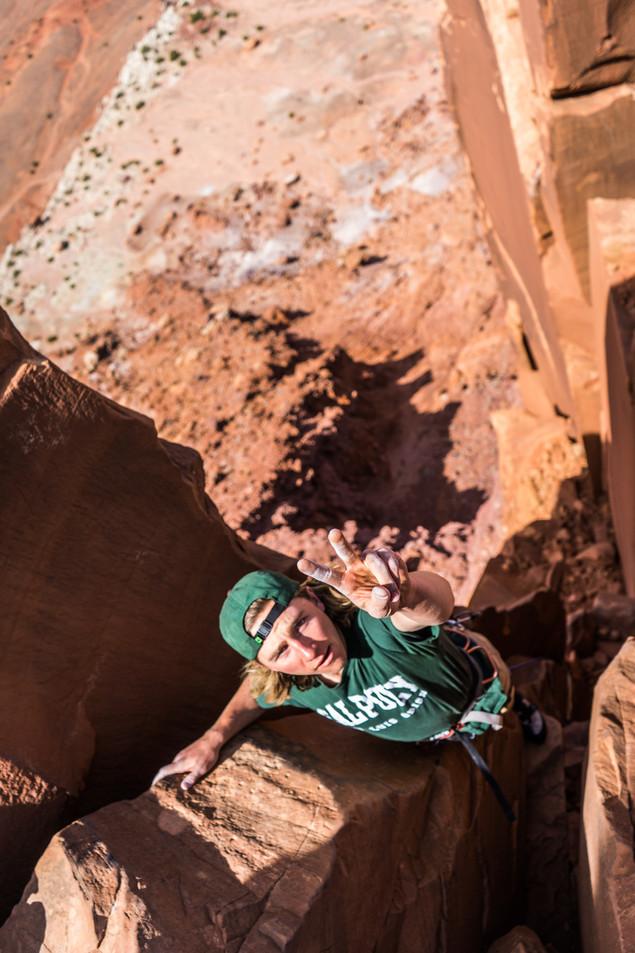Climbing South Six Shooter, Indian Creek, Utah
