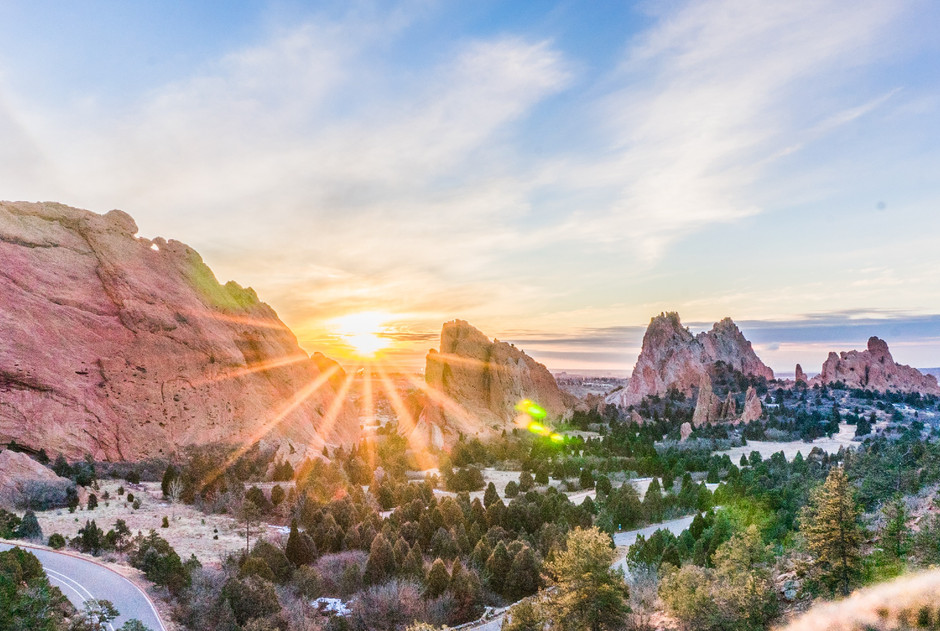 Sunrise in Garden of the Gods, CO
