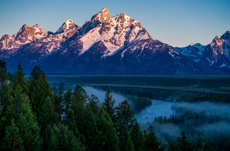 Sunrise from Snake River Overlook, Wyoming