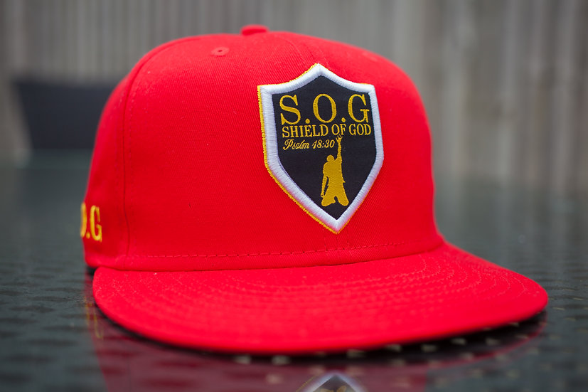 Shield of God- hat Red