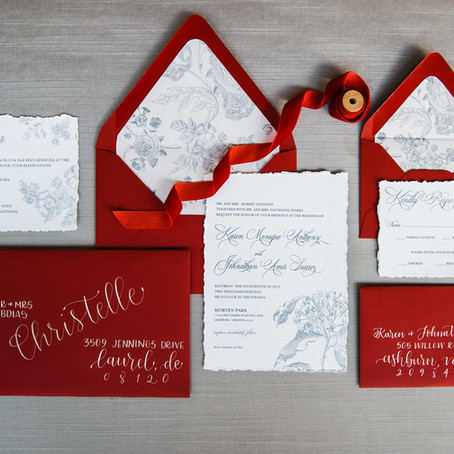 COMPOSITION OF A WEDDING INVITATION SUITE