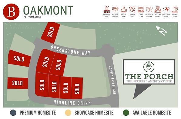 Oakmont 75s - Available Homesite Map - J