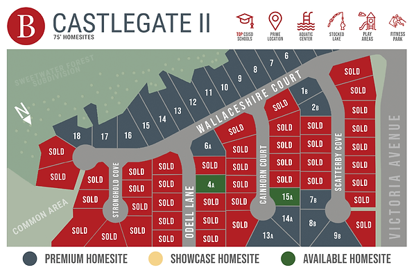 Castlegate II - Available Homesite Map -