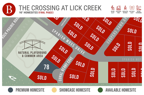 The Crossing - Available Homesite Map.pn