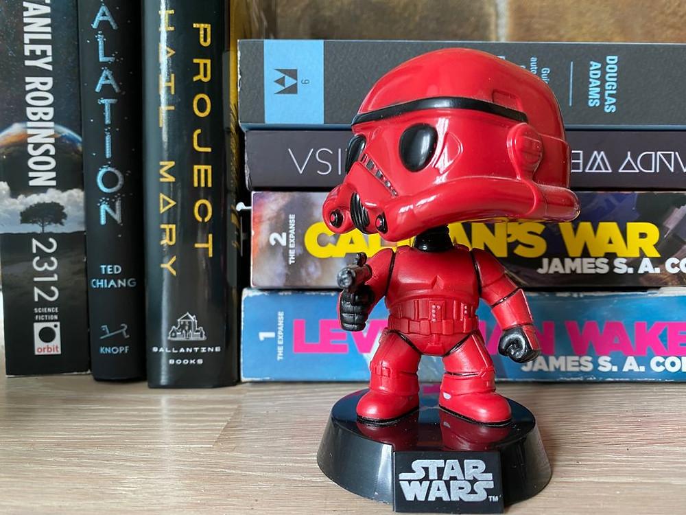 red star tropper bobble head science fiction books