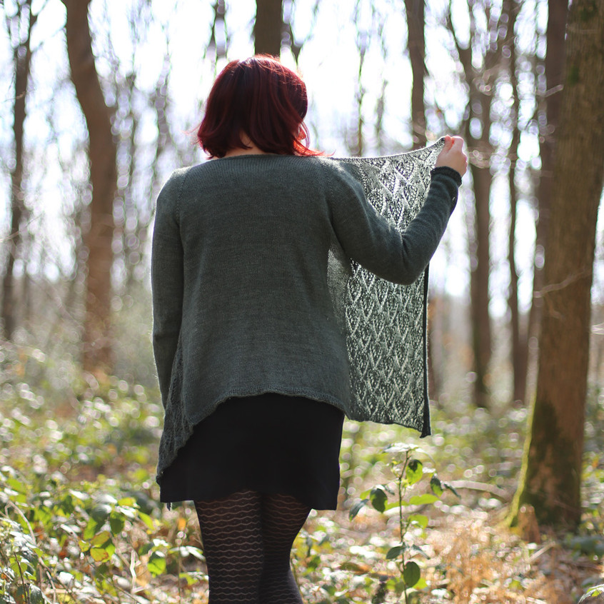 Gilet long Dama - Tricot femme par Folie 0rdinaire Design