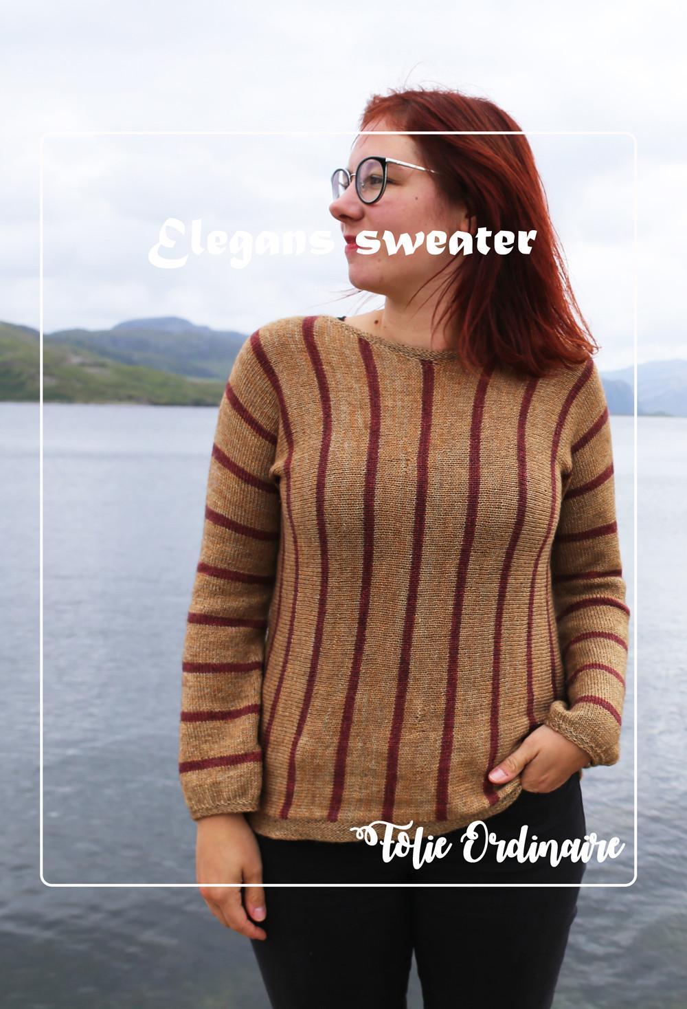 Pull mariniere Elegans - Tricot femme par Folie 0rdinaire Design