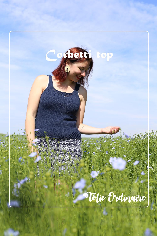 Top d'ete Corbetti - Tricot femme par Folie 0rdinaire Design