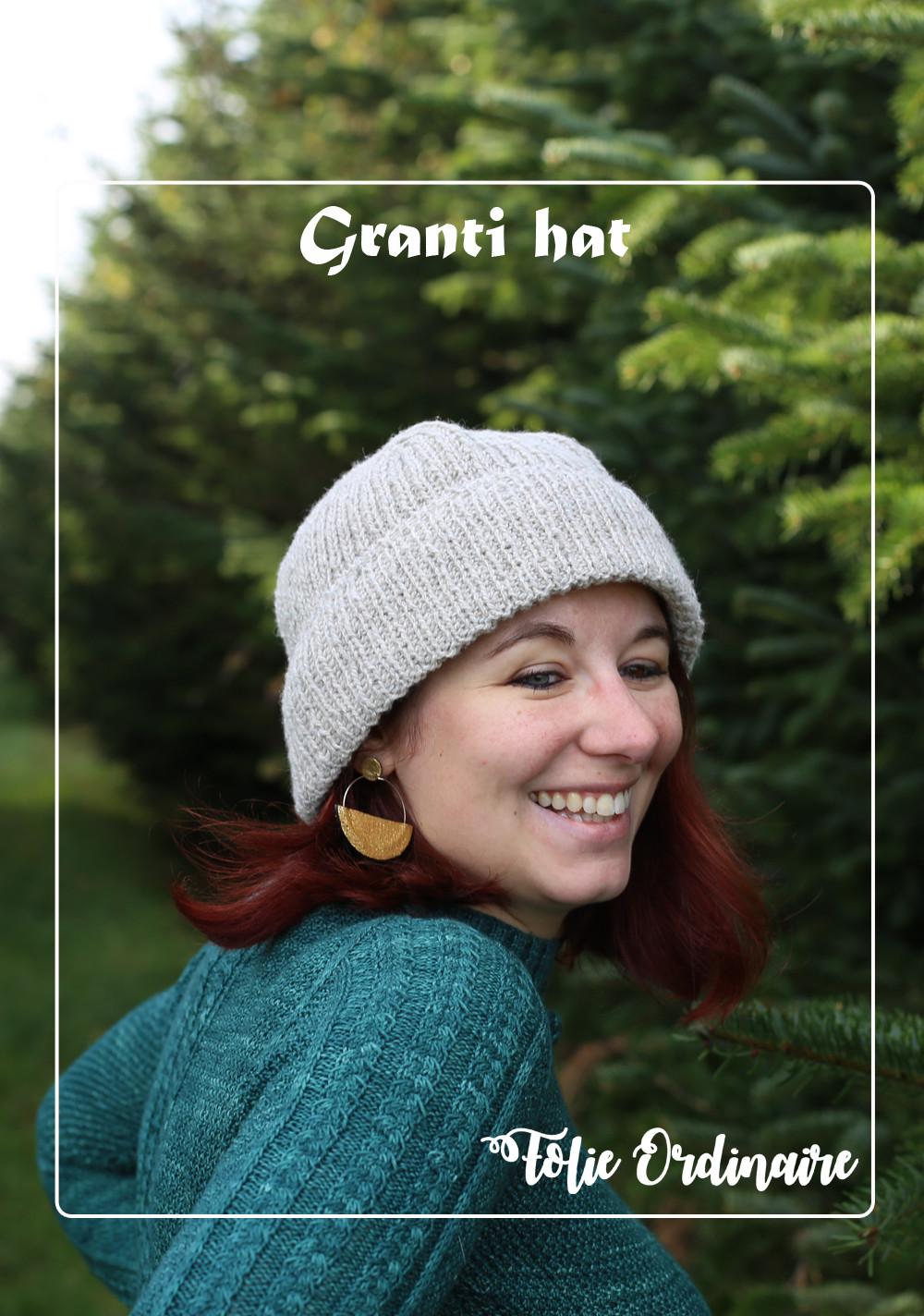Epingle bonnet Granti pour la famille - Tricot par Folie 0rdinaire Design