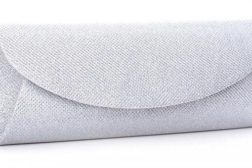 Dominique Silver Clutch Bag
