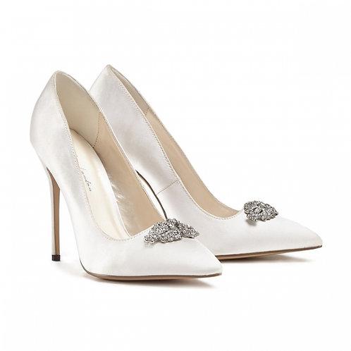 Alandra Ivory Jewelled Court Shoe