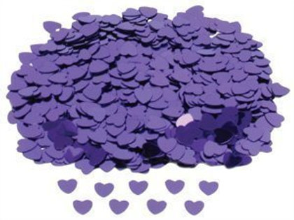 Neviti Purple Hearts Table Confetti