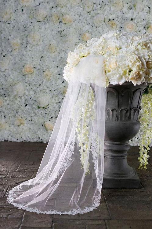 Warren York Bridal Veil - Style BV004