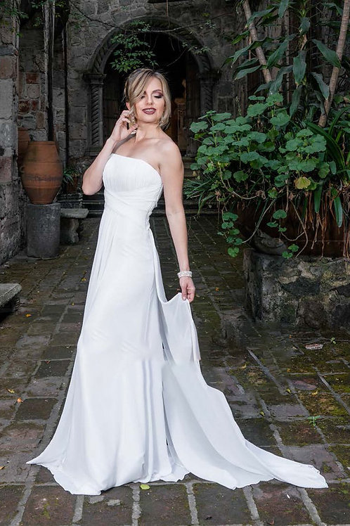 NEW Ivory Size 10 Chiffon Gown
