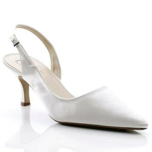 White Pastel Sling back Shoe