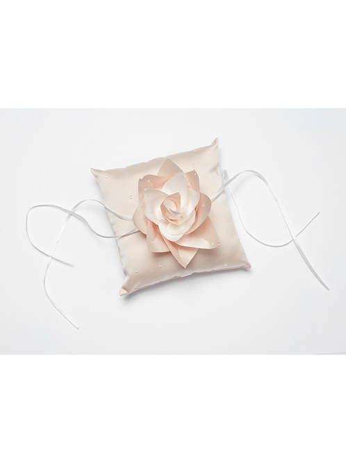 Blush Pink Satin Ring Cushion