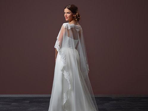 Poirier Soft Tulle Bridal Cape - Style C95-200