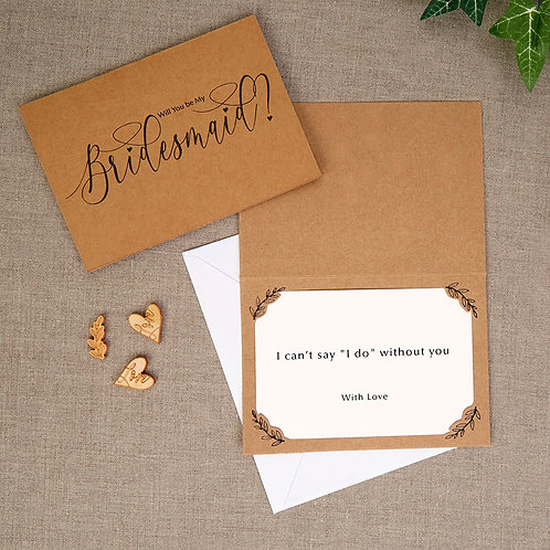 Pack of 3 ¦ Will you be my bridesmaid? Card & Envelope
