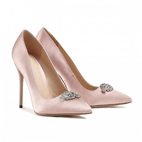 Alandra Jewelled Blush Court Shoe