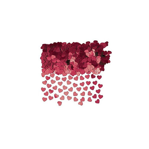 Neviti Burgundy Hearts Table Confetti