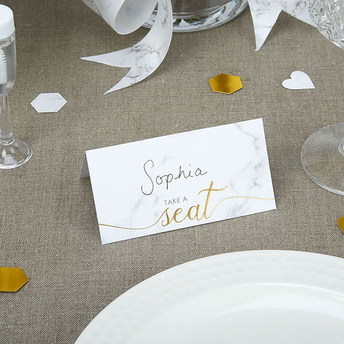 Pack of 25 ¦ Scripted Marble Place Cards
