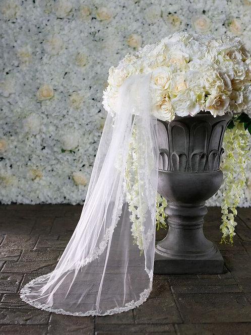 Warren York Bridal Veil - Style BV002