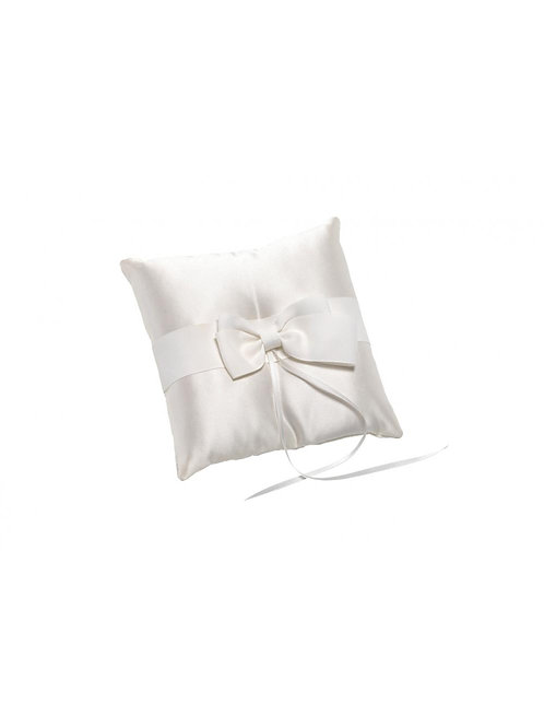 Ivory Satin Ring Cushion & Bow