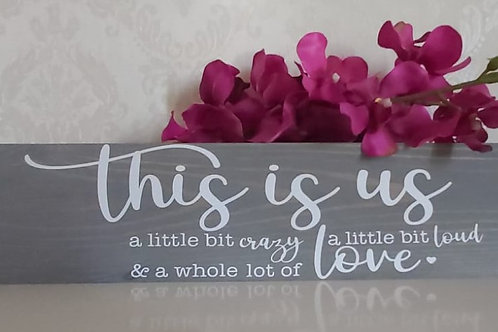 This is Us - Wall Plaque - Wooden Home Family Plaque - Home Decor Sign