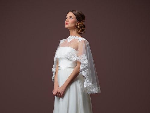 Poirier Soft Tulle Bridal Cape - Style C100-090