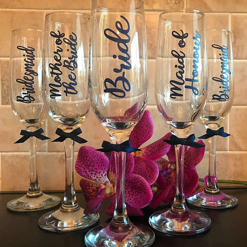 Personalised Champagne/Prosecco Flutes