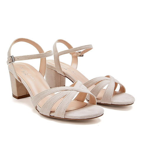 Wide Fit - Camille Taupe Sandal