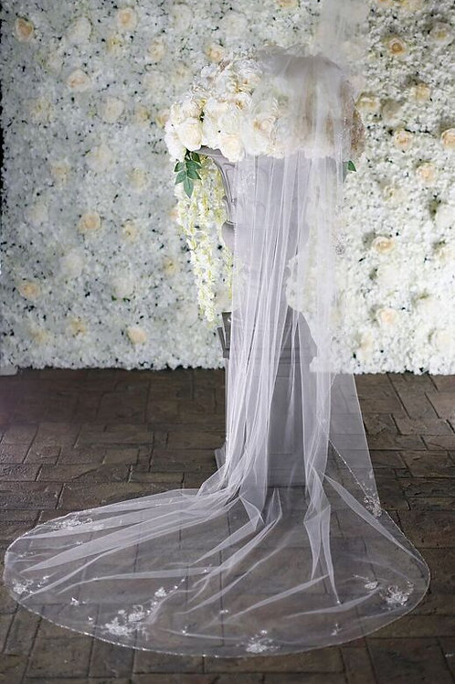 Warren York Bridal Veil - Style BV007