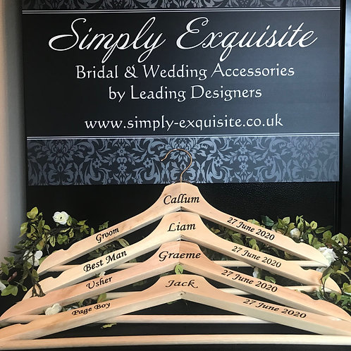 Personalised Groomsmen Hangers