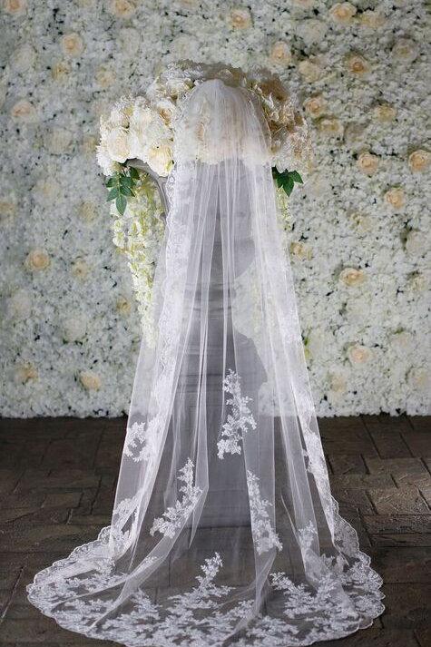 Warren York Bridal Veil - Style BV001