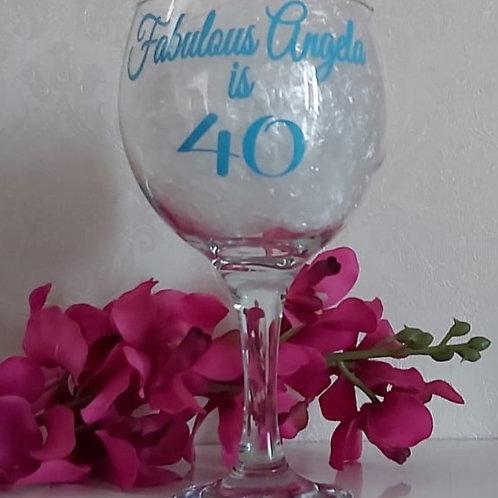 Custom Personalised Gin Glass