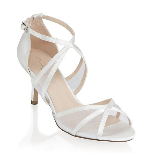 Ivory Wide Fit Ankle Strap Sandals