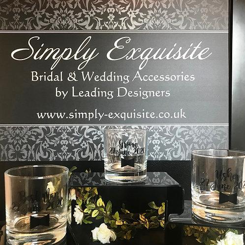 Personalised Tumbler Glass, Usher, Best Man, Groom Gift, Wedding Day