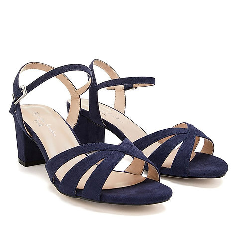 Wide Fit - Camille Navy Sandal