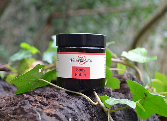 Body butter with avocado butter, shea butter, cocoa butter and plum kernel oil