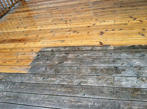 See the difference in your deck after washing