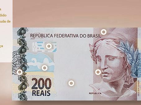 Veja detalhes da cédula de R$ 200 e descubra como verificar se é verdadeira