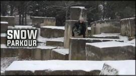 Parkour sous la neige