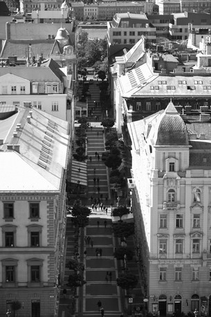 From the top of St Stephen Basilica